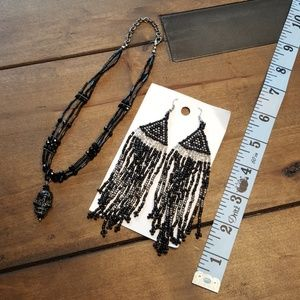 2 PC Set #4 Necklace and Festival Earrins